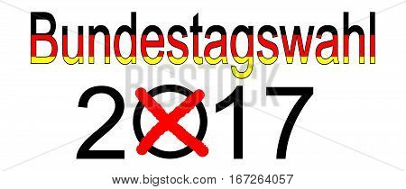 Elections in Germany 2017 - Bundestagswahl, illustration