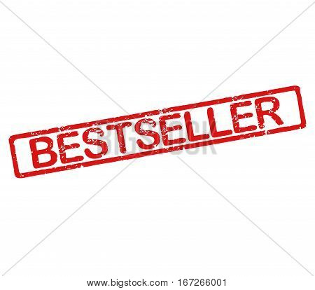 Rubber stamp with text bestseller with a white background