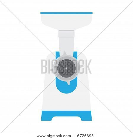electric meat grinder isolated on white background. mincer vector illustration Flat style.