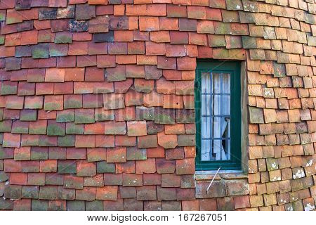 Traditional English oast house tiled wall background