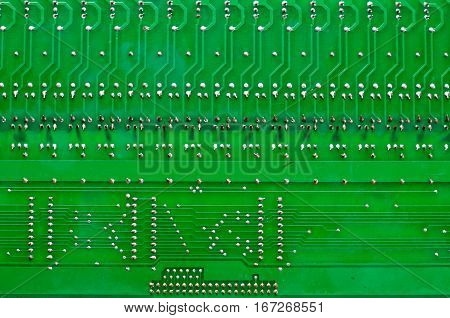 Against the background of old circuit boards naturally compatible.