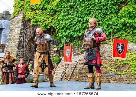 Medieval festival at Cochem Castle in Germany, August 2014