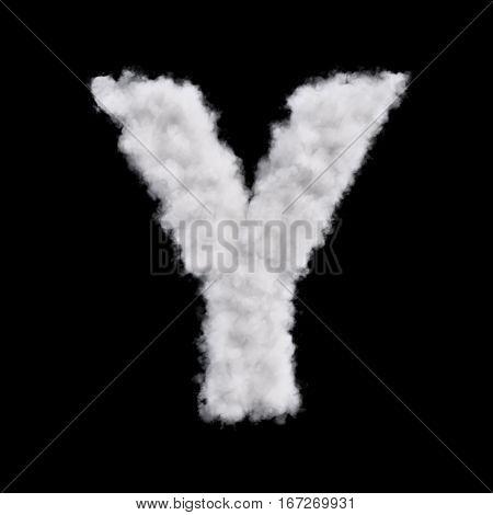 Cloud Letter Y
