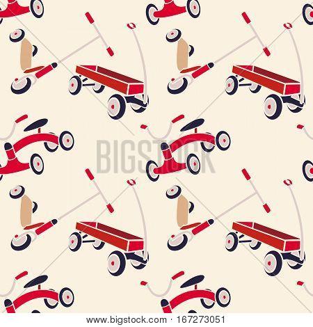 Vector Pattern 50s. Backdrop 1950s retro style.