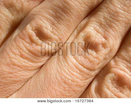 Fingers closeup.