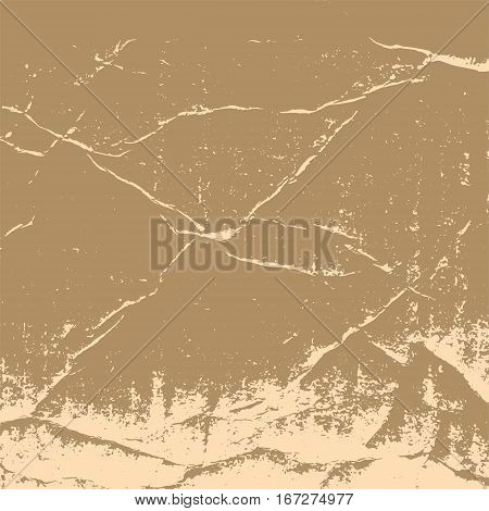 The texture of crumpled cardboard. Old vintage retro brown background for design in the style of grunge