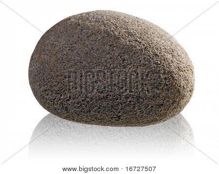 Stone on white background (isolated).