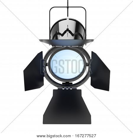Metal Modern Spotlight Suspend from Ceiling on a white background. 3d Rendering