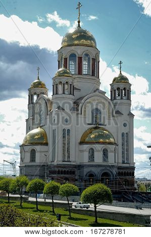 Ekaterinburg, Russia - May 18, 2006: Church on Blood in Honour of All Saints Resplendent in the Russian Land