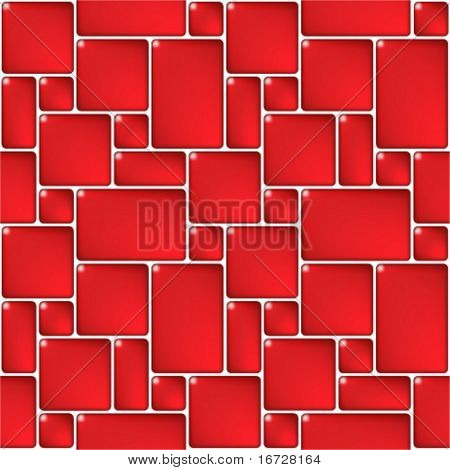 Red mosaic seamless pattern. (See more seamless backgrounds in my portfolio).