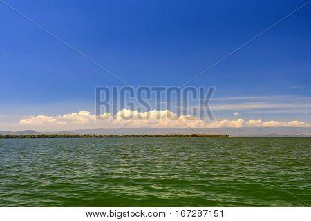 Scenic panoramic view on lake Naivasha in Kenya, Africa