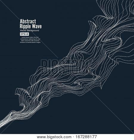 Wave Background. Ripple Grid. Modern Vector Illustration. Element Of Design
