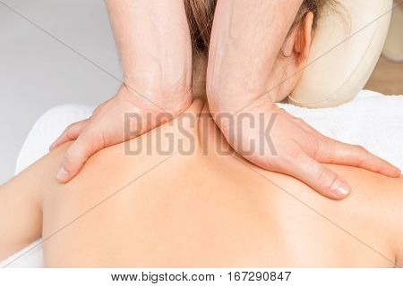 Neck And Shoulder Massage Girls In The Salon