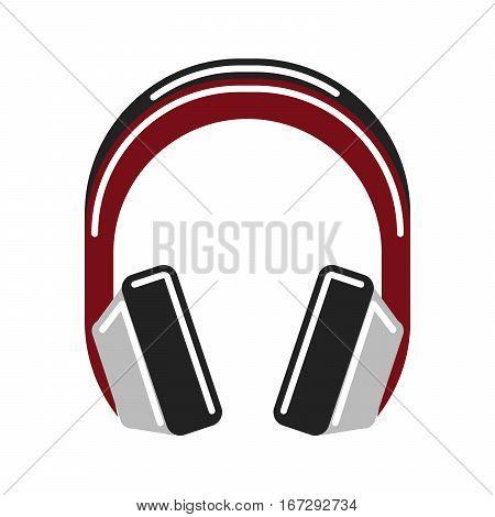 Isolated headphones on white background. Headphone and earphone. Audio equipment.