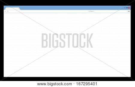 Browser window vector illustration. Web browser in flat style. Window concept internet browser.