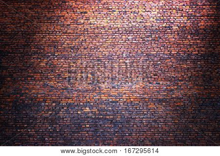 Brick Wall Street Background For Design, Texture Of Old Brickwork