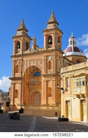 St. Peter & Paul Cathedral in Mdina city, historic capital of Malta