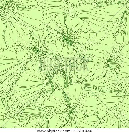 Lily seamless pattern.