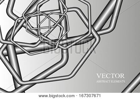 abstract background, pipe, pneumatic mail - colorful vector illustration