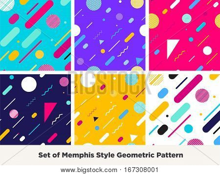 Hipster Fashion Memphis Style Geometric Pattern