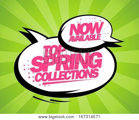 Top spring collections now available, pop-art design with balloons, rasterized version