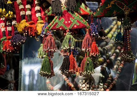 Selection Of Turkish Traditional Tassels In Various Colors