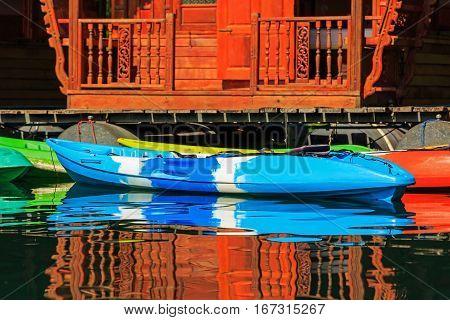 Colorful Kayaks For Tourists