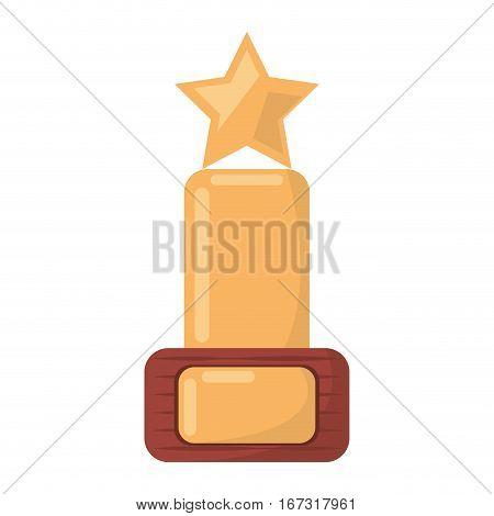 award trophy movie industry vector illustration eps 10