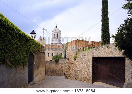 Medieval Jewish quarter in the city of Girona, Spain