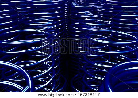Pile Of Metal Springs And Coils
