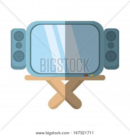 cartoon tv channel movie sound table vector illustration eps 10