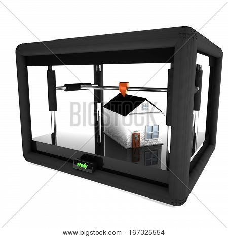 3D Printer Printing An Entire House