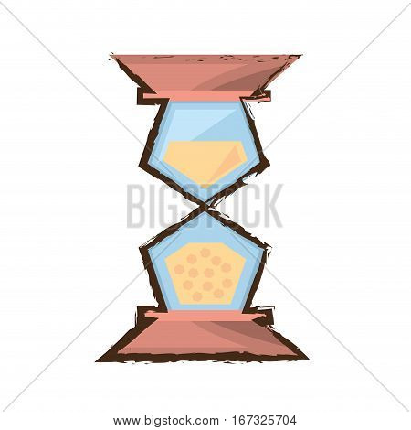 sand clock time glass wooden color sketch vector illustration eps 10