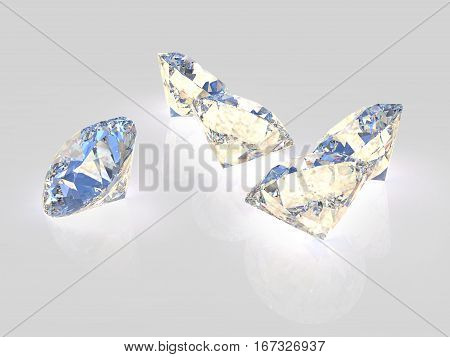 Luxury diamonds on whte backgrounds - clipping path included