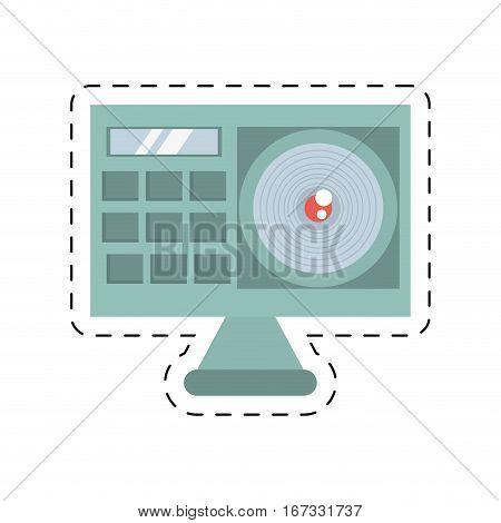 camera film photo equpment travel cut line vector illustration eps 10