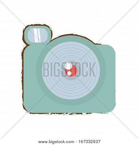 photographic camera picture travel equipment color sketch vector illustration eps 10