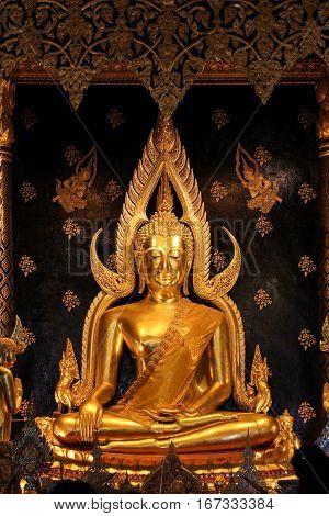 Thai Buddha Statue in Buddhist Church Thailand