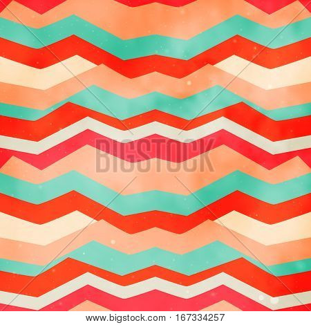 abstract colored geometric seamless pattern with grunge effect poster