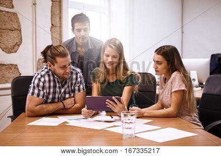 Strategic Team Of Professionals In Meeting