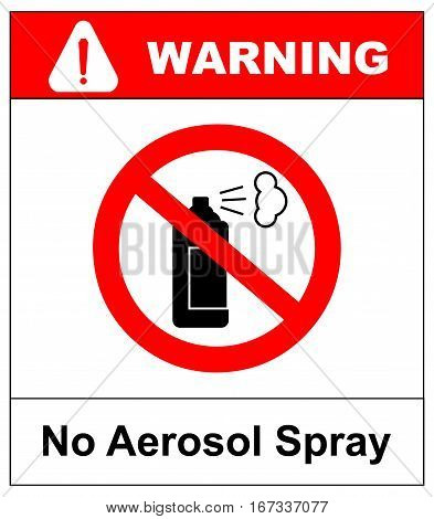 No aerosol spray sign, No alcohol sign vector illustration, red prohibition circle, for wall, buildings, public places.
