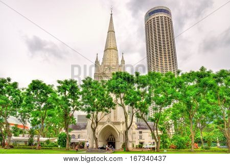 St Andrew's Cathedral, an Anglican cathedral in Singapore
