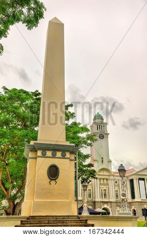 The Dalhousie Obelisk, a memorial obelisk in the Civic District of Singapore