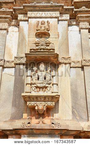 Sas Bahu Temple Carvings Closeup