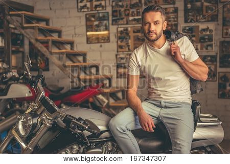 Handsome Confident Biker