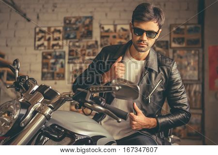 Handsome Young Biker