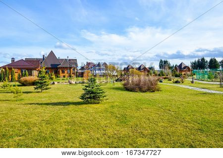 The Picturesque Country Estate Outside The City In The Vicinity Of Minsk.
