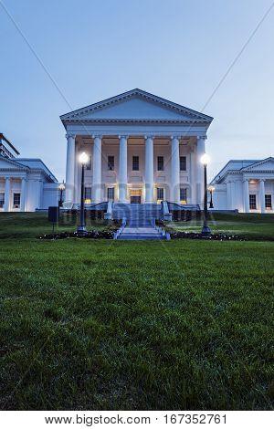 Virginia State Capitol Building Richmond. Richmond Virginia.
