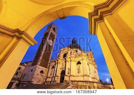 Basilica di Monte Berico in Vicenza. Vicenza Veneto Italy