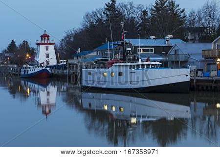Lake Huron Harbour In Early Winter
