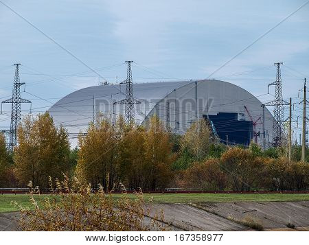 New sarcophagus for the reactor block 4 of the Chernobyl nuclear power station